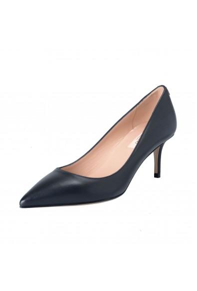 Valentino Garavani Women's Black Leather Classic Heeled Pumps Shoes