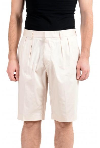 "Hugo Boss ""Kirio-Short-Pleats"" Men's Beige Stretch Casual Shorts"