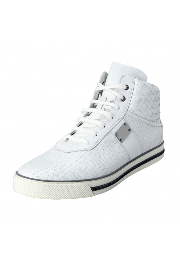 Gianni Versace Men's Leather Hi Top Sneakers Shoes