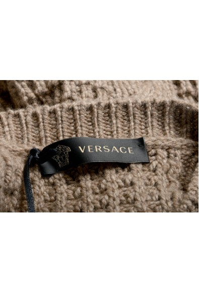 Versace Men's 100% Cashmere Heavy Knitted Crewneck Pullover Sweater: Picture 2