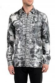 "Versace Collection ""Trend"" Men's 100% Silk Graphic Long Sleeve Dress Shirt"