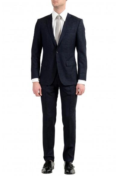 "Hugo Boss ""Huge6/Genius5"" Men's Wool Slim Dark Blue Two Button Suit"