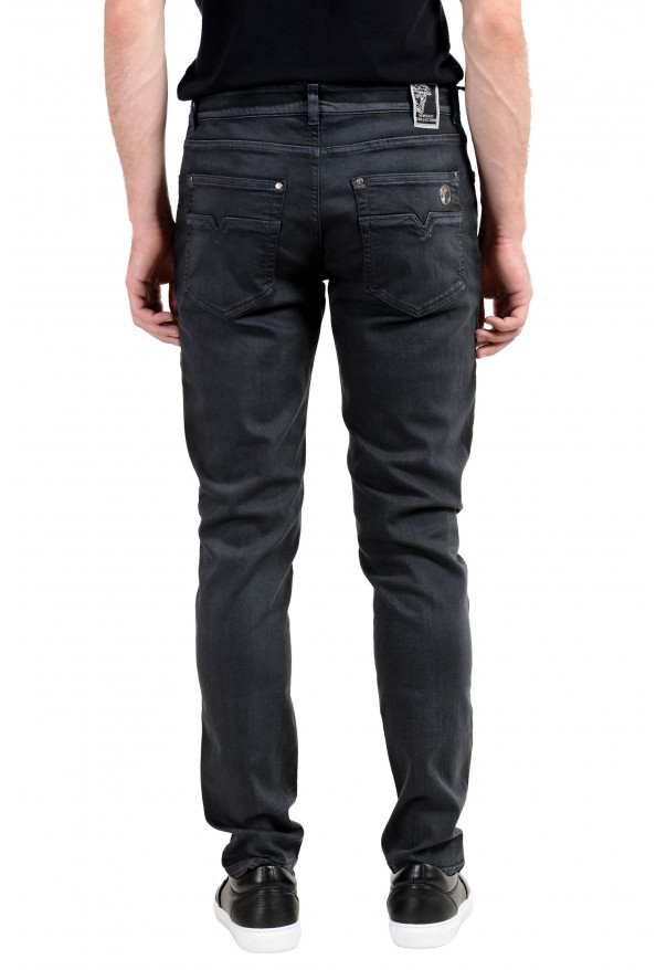 Versace Collection Men's Gray Slim Jeans: Picture 3