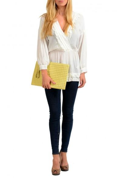 Valentino Garavani Women's Yellow 100% Leather Rockstud Wristlet Clutch Bag: Picture 2