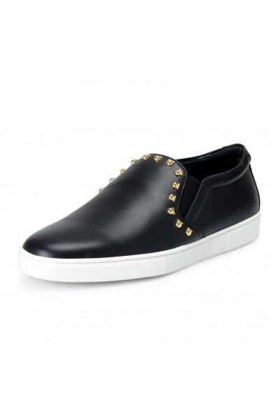 "Salvatore Ferragamo Women's ""SPARGI"" Black Leather Loafers Shoes"