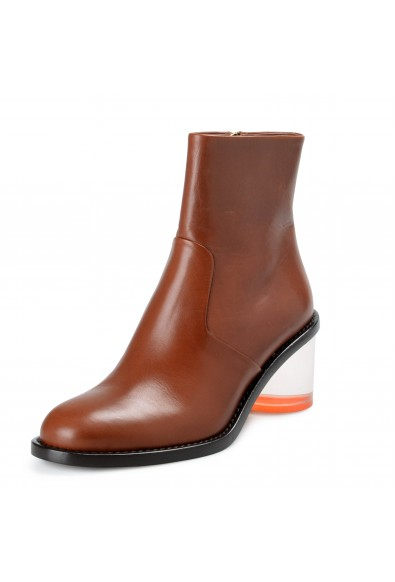 Burberry London Women's WESTELLA Brown Leather Heeled Ankle Boots Shoes