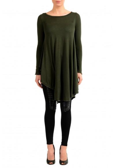 Maison Margiela MM6 Angora Cashmere Green Women's Sweater Dress