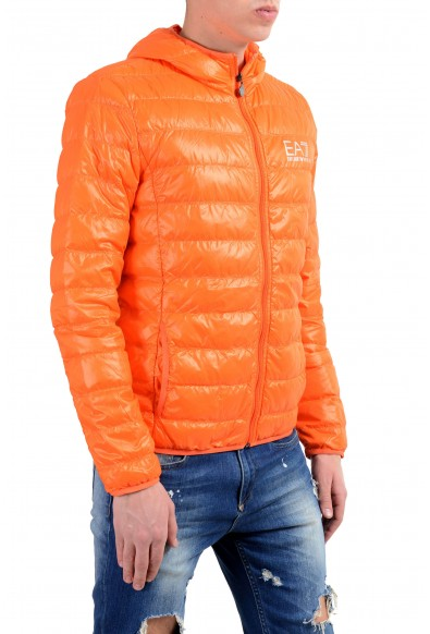 Emporio Armani EA7 Men's Orange Duck Down Full Zip Hooded Light Parka Jacket: Picture 2
