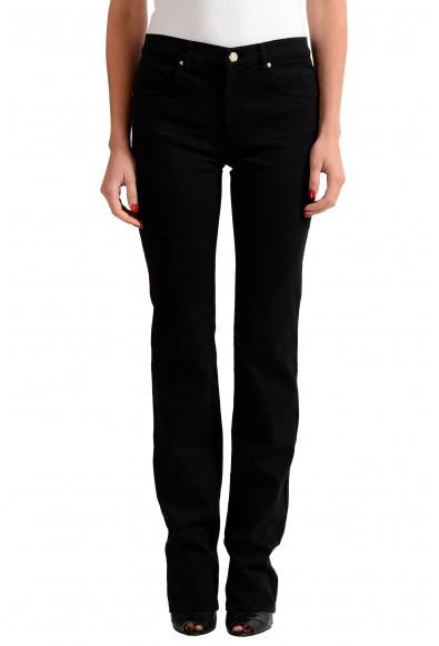 Versace Jeans Black Straight Legs Women's Embellished Jeans
