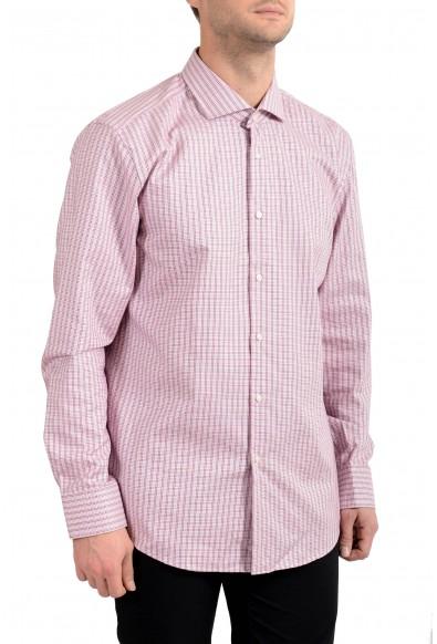 """Hugo Boss Men's """"Jason"""" Plaid Slim Fit Long Sleeve Dress Shirt"""