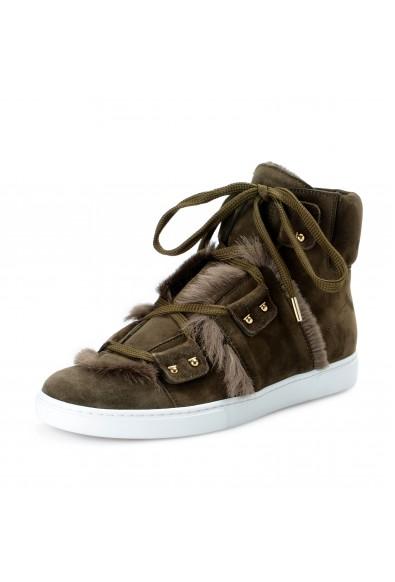 Salvatore Ferragamo Women's SOLDA Suede Fur Sneakers Boots Shoes