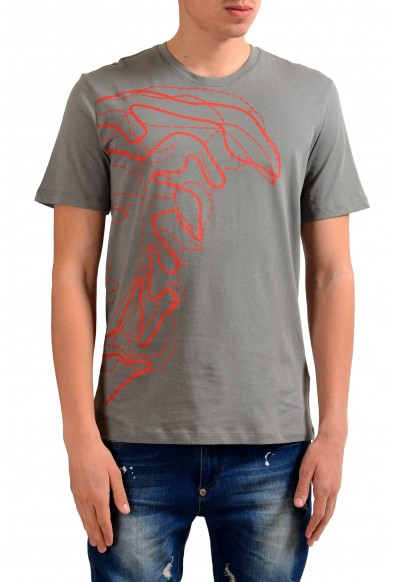 Versace Collection Men's Gray Graphic Print T-Shirt