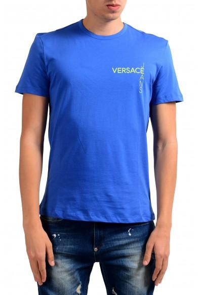Versace Jeans Men's Blue Crewneck Short Sleeve T-Shirt