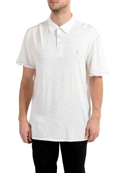 John Varvatos Star USA Men's White Short Sleeve Polo Shirt