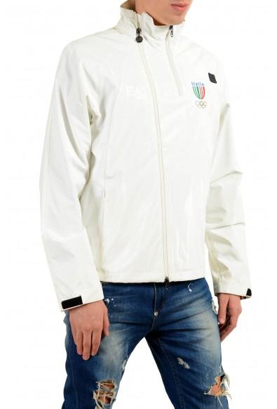 "Emporio Armani EA7 ""Italia Team"" Men's White Full Zip Hooded Windbreaker Jacket: Picture 2"