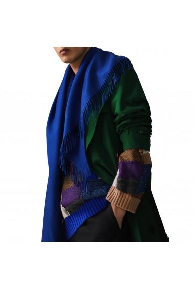 Burberry London Unisex Royal Blue 100% Cashmere Scarf Shawl
