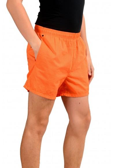 """Hugo Boss """"Tuna"""" Men's Striped Orange Swim Board Shorts: Picture 2"""