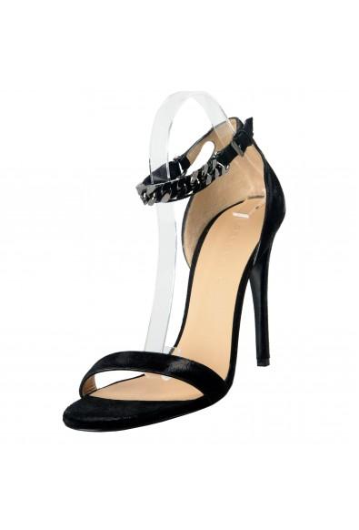 "Belstaff ""England"" Women's Suede Chain High Heels Sandals Shoes"