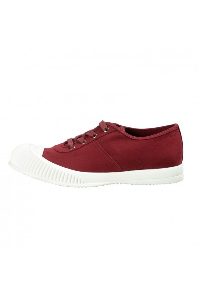 Prada Men's Burgundy Canvas Fashion Sneakers Shoes: Picture 2