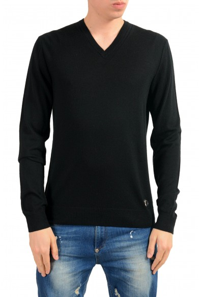 Versace Collection Men's Black Wool Cashmere Light Sweater