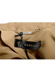 Versace Women's Sand Brown Silk Two Button Blazer Jacket: Picture 4