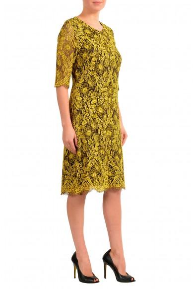"Hugo Boss Women's ""Kirelia-1"" Yellow Lace Shift Dress: Picture 2"