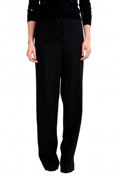 Maison Margiela 4 Women's Wool Eased Shape Black Dress Pants