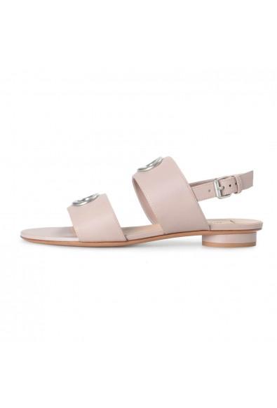 Valentino Garavani Women's Beige Leather Flat Sandals Shoes: Picture 2