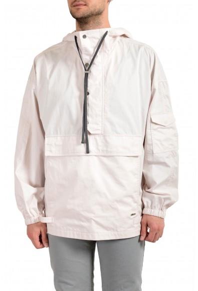 "Hugo Boss ""Bentrio192T1"" Men's Pale Pink Hooded Windbreaker Jacket"