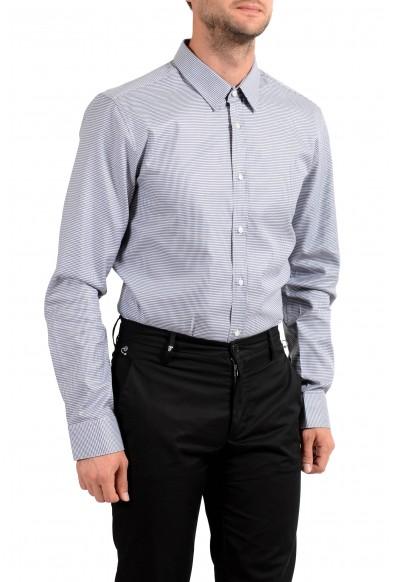 Hugo Boss Men's Elisha01 Houndstooth Print Long Sleeve Dress Shirt: Picture 2