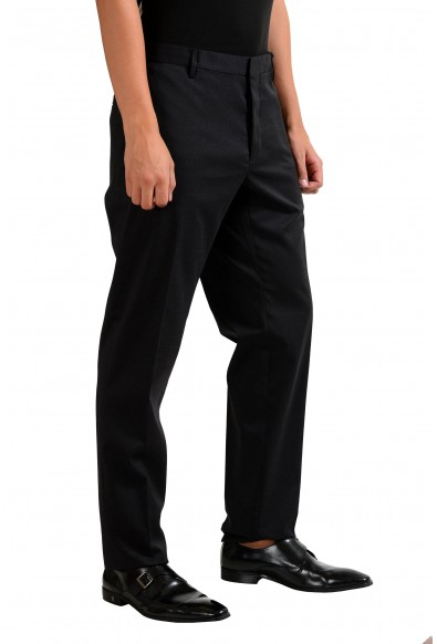 Dsquared2 Men's Black Wool Stretch Flat Front Dress Pants : Picture 2