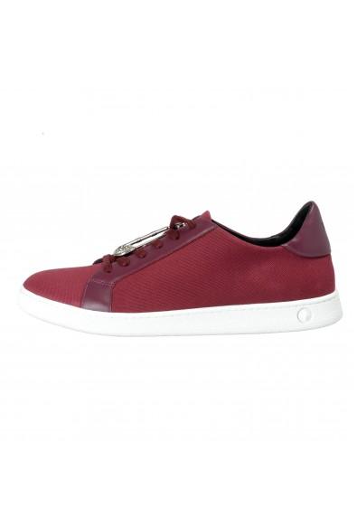 Versace Versus Men's Purple Canvas Leather Fashion Sneakers Shoes: Picture 2