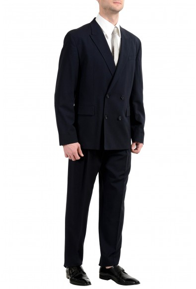 """Hugo Boss """"Ulan/Fabo182"""" Men's Oversize Fit Wool Blue Double Breasted Suit: Picture 2"""