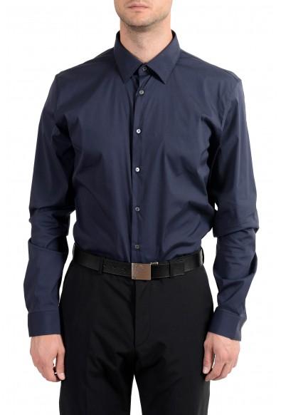 Burberry Men's Dark Blue Slim Long Sleeve Dress Shirt