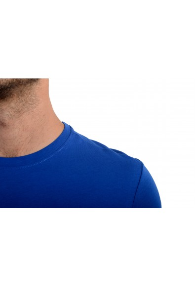 Roberto Cavalli Men's Blue Graphic Print Crewneck T-Shirt: Picture 2