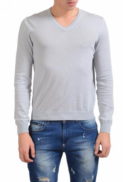 Malo Men's Ivory V-Neck Light Sweater