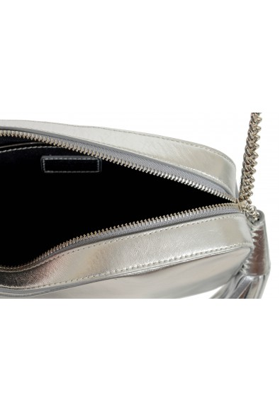 """Jimmy Choo Women's Silver Leather """"Athini"""" Camera Shoulder Crossbody Bag: Picture 2"""
