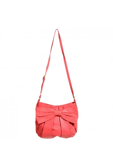 Red Valentino Women's Pink Bow Decorated 100% Leather Shoulder Bag