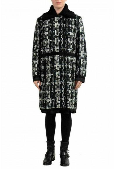 """Moncler Women's """"JULIETE"""" Plaid Wool Down Coat"""