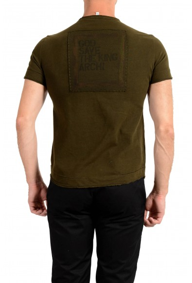 Ginfranco Ferre GF Men's Olive Green Graphic Print T-Shirt : Picture 2