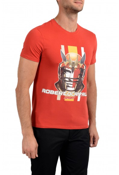 """Roberto Cavalli """"SPORT"""" Men's Red Graphic Stretch T-Shirt: Picture 2"""