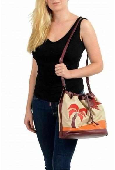 Just Cavalli Leather Multi-Color Embellished Drawstring Women's Shoulder Bag: Picture 2