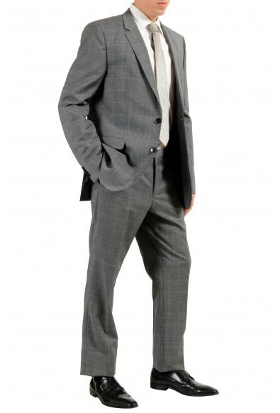 "Hugo Boss ""C-Jeffery/C-Simmons"" Men's 100% Wool Gray Plaid Two Button Suit: Picture 2"