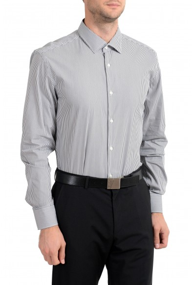 "Hugo Boss ""Jenno"" Men's Striped Slim Fit Stretch Long Sleeve Dress Shirt: Picture 2"