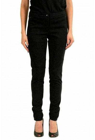 Moncler Women's Black Stretch Skinny Casual Pants