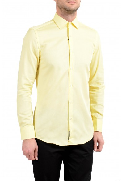 "Hugo Boss ""Jenno"" Men's Slim Yellow Button Down Long Sleeve Dress Shirt: Picture 2"