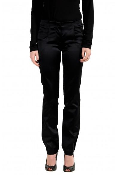 Malo Women's Silk Black Casual Pants