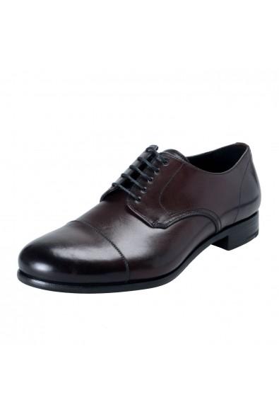 Prada Men's Brown Lace Up Dress Oxfords Shoes