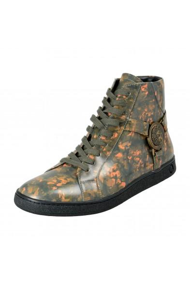Versace Versus Men's Multi-Color Leather Hi Top Fashion Sneakers Shoes