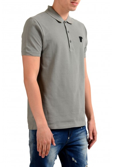 Versace Collection Men's Gray Short Sleeves Polo Shirt : Picture 2